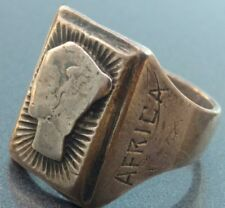 ww2 Mercury dime silvered military ring north africa german heavy man's