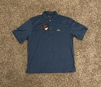 Charles River Country Club Mens Polo Golf Shirt Large Embroidered Deep Sea Blue