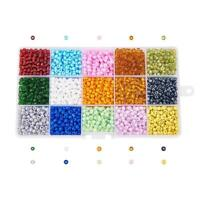 1 Box 15 Color 6/0 4mm Glass Seed Bead Mixed Color Jewelry Making Beading Craft