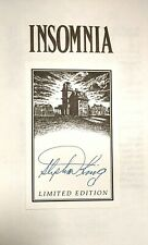 Insomnia by Stephen King (HB, Special Limited Slipcase Edition, Signed , 1994)