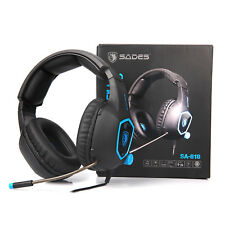 Sades 3.5mm Gaming Headset Headphone Headband + Microphone For PC PS4 XBOX ONE