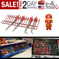 Pliers Organizer Tool Rack Holder Drawer Toolbox Garage Wrench Storage Metal Set