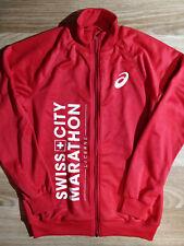 Asics Crew Swiss City Marathon Lucerne Mens Tracksuit Top Jacket Red Athletic
