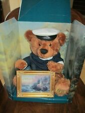 """Thomas Kinkade """"The Light of Peace"""" 14"""" Sailor Bear and 7"""" Framed Picture"""