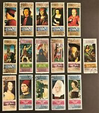 YEMEN NICE LOT OF 16 DIFFERENT 1968 MEXICO CULTURAL OLYMPICS PAINTERS PAINTINGS