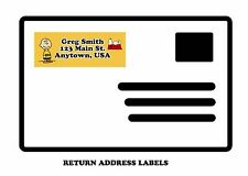 Charlie Brown return mailing address labels, Charlie Brown, Snoopy, Labels