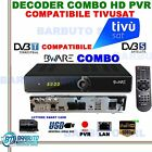 DECODER BWARE COMBO Sat + Terr Full HD COMP. TivuSat PVR LAN EPG 2 USB SAT H627