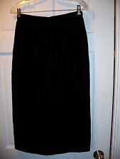 VTG Llyod Williams Black Below Knee Size 8 Formal Skirt Faux Velvet