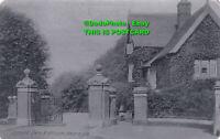 R397392 Jesmond Dene Entrance Newcastle. Alumino Registered. 1905