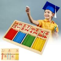 Wooden Math Counting Blocks Sticks Educational Learning Abacus children Toy Gift