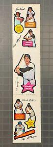 Vintage 1968 Topps All Star Action Sticker Uncut Panel w/ Carl Yastrzemski HOF