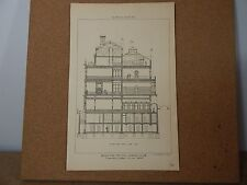 Antique Architects print The city Liberal club The architect 1875.
