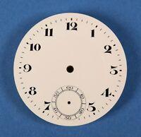 Zifferblatt f Taschenuhr Uhr EMAIL TASCHENUHRZIFFERBLATT pocket watch dial