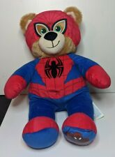 "Build A Bear Teddy Ultimate Spider-Man Marvel 16""  Great Condition"