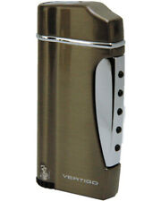 Vertigo by Lotus Trump Single Torch Cigar Lighter Cloth Pouch Warranty Gunmetal