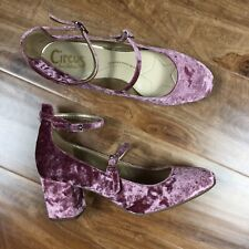 Circus Sam Edelman Shoes 9 pink crushed velvet strappy chunky heel