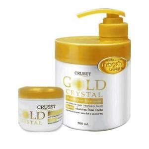 Cruset Hair Repair Treatment Gold Crystal Colloidal Keratin Nourishing damage