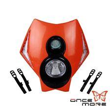 New Motorcycle Supermoto Orange 12V LED Headlight Lamp For KTM RMZ DR KLX 250