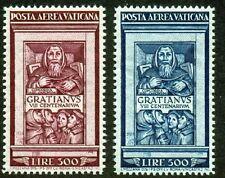 1951 Vaticano Posta Aerea 2 Valori del Graziano Bolaffi Pa 20/21 Splendida+
