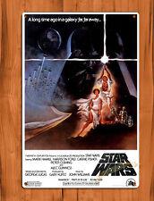 TIN SIGN Star Wars Movie Poster Retro Luke Wall Decor