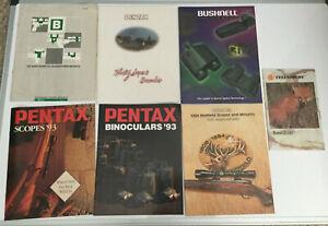 VTG 7 MIXED Scopes Catalogs BUSHNELL PENTAX CELESTRON REDFIELD B-SQUARE 80-90's