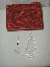 Waterford 2006 Crystal Christmas Tree Ornament w/Hanger MIB Ireland Signed