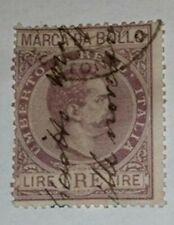 MARCA DA BOLLO TRE LIRE REGNO D' ITALIA FILIGRANA CORONA ORIGINALE