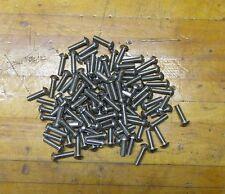 """12/24 x 3/4"""" New Surplus Stainless Round Head Machine Screw - Qty - 100"""