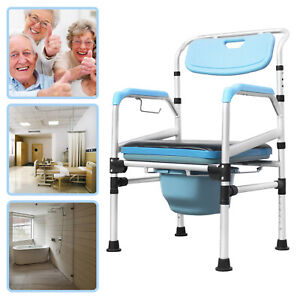 Toilettenstuhl Nachtstuhl Höhenverstellbar Alu Feststehend Duschstuhl WC Stuhl