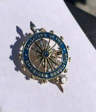 Caldwell & Co Vintage 90s Daughters Of The American Revolution DAR Enamel Pin