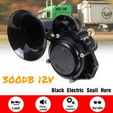 300dB Loud Single Trumpet Snail Air Horn For 12V Car Truck Lorry SUV RV Black