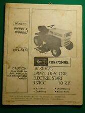 "Sears Craftsman 36"" Lawn & Garden Tractors Owner'S & Parts Manual"