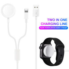 2 in 1 Smart Watch Wireless Charger For Apple Watch Series 1-4 Magnetic Cable fe