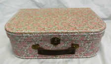 Retro Floral Suitcase Style Storage Box  - Very Pretty -  NEW