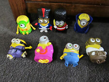 DESPICABLE ME....minions..MINIONS..lot of 8 toys,  ALL 2nd series!! sentries ++