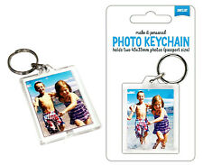 Shot2go Photo Picture Frame Keychain Personalised Keyring Create Your Own Photo