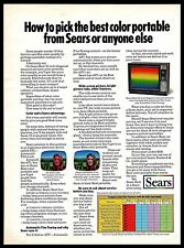 1972 Sears 19-inch Color Portable TV ATL AFC Vintage 1970s Photo Print Ad