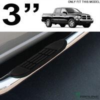 "Topline For 05-11 Dodge Dakota Quad/Crew 3"" Side Step Nerf Bars HD - Stainless"