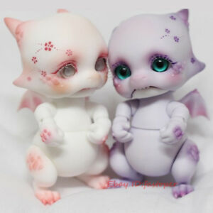 """Bjd Doll BJD Baby dragon SD Dolls 8cm/3"""" with Eyes Cute Kawaii Dragon Dolls"""
