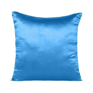 Satin Throw Pillows Solid Color Square Home Sofa Decor Pillow Cushion Cover Case