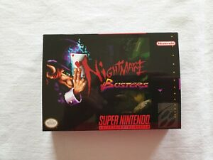 Nightmare Busters SNES custom case insert top quality