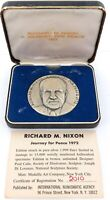 "1972 .999% FINE SILVER USA RICHARD NIXON. ""A JOURNEY FOR PEACE"" LARGE MEDALLION."