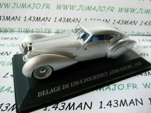 AUT19 1/43 IXO altaya Voitures d'autrefois DELAGE D8 120-S pourtout Aéro 1938
