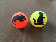 "Vintage Rubber Bouncy Ball Lot ~ Vending Machine Toy ~1 3/4"" W/ Dinosaurs"