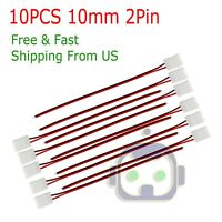 10PCS 2 Pin Connector Cable To DC Female Power for 3528 2835 LED Strip Light