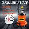 Air Operated High-Pressure Grease Pump With 15FT Hose Gun Rigid Tool Pail