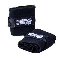 Gorilla Wear Basic Wrist Wraps Non-padded Straps Black