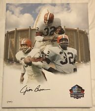 Jim Brown Signed Autographed One Of A Kind Cleveland Browns 16x20 Canvas Psa/Dna