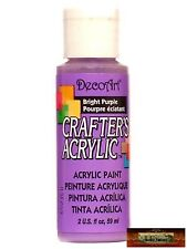 M01417 MOREZMORE DecoArt BRIGHT PURPLE Crafter's Acrylic All Purpose Paint A60