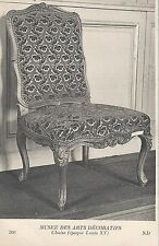 CPA Musée des Arts Décoratifs - Chaise (Epoque Louis XV)